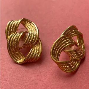 Napier Vintage stud earrings in gold with marquee